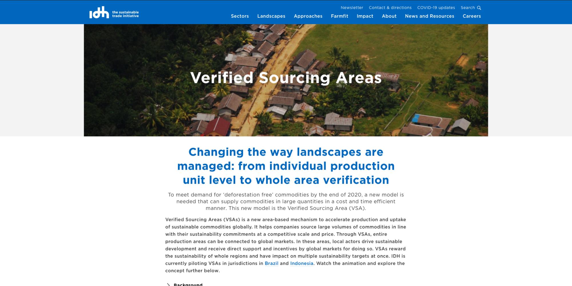 Img Verified Sourcing Areas (VSAs)
