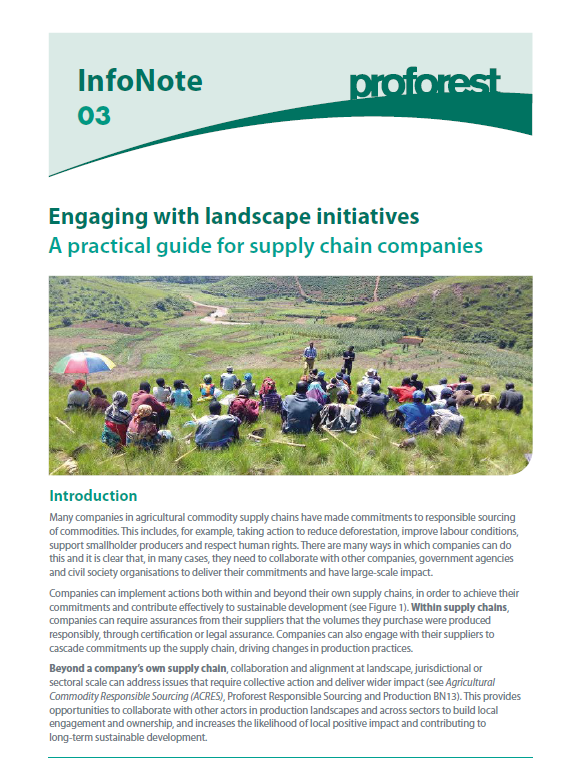 Engaging with Landscape Initiatives: A Practical Guide for Supply Chain Companies