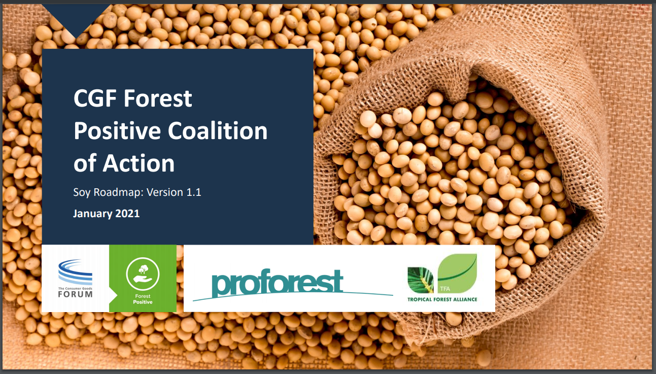 CGF Forest Positive Coalition of Action Soy Roadmap: Version 1.1