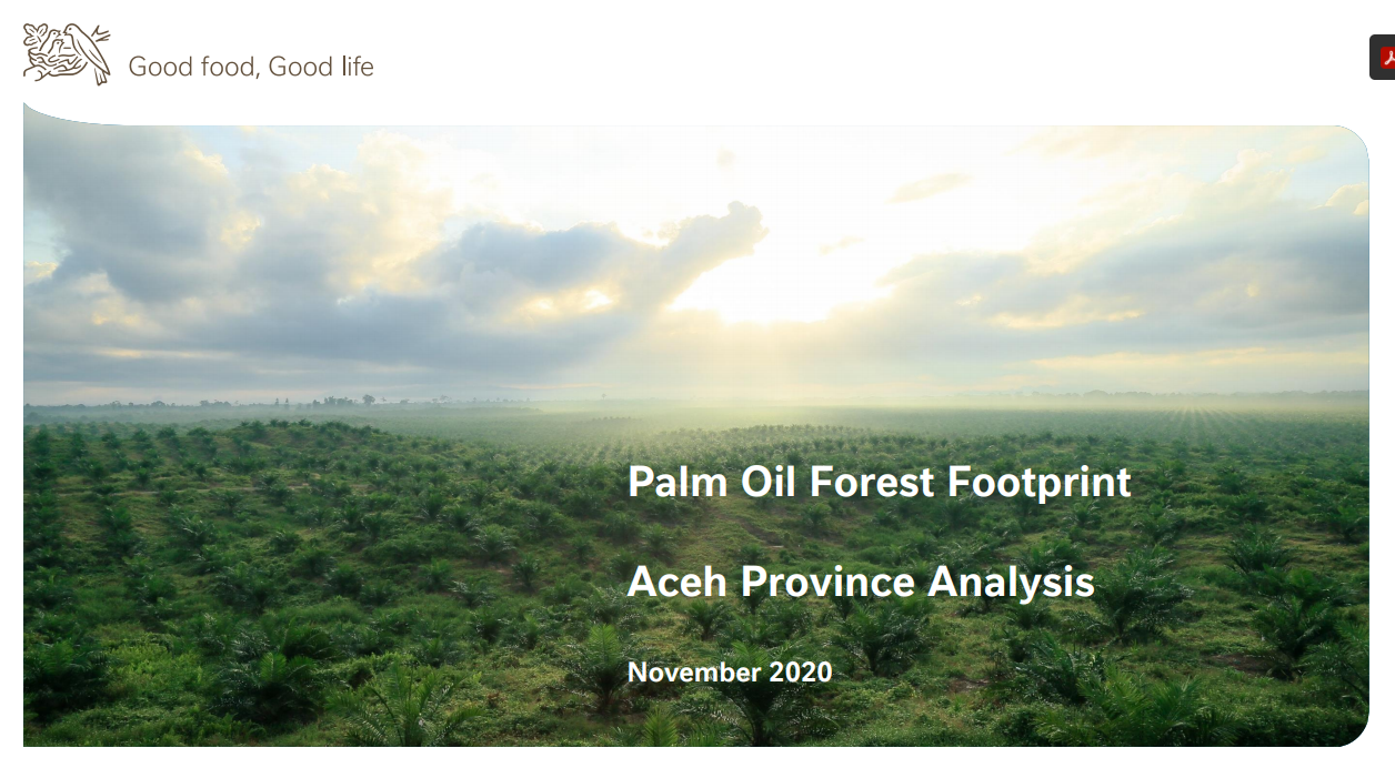 Palm Oil Forest Footprint: Aceh Province Analysis